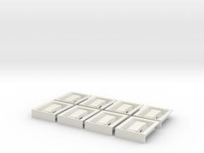 1.6 POIGNEES ATTACHES CAPOT X8 EC 145 in White Natural Versatile Plastic