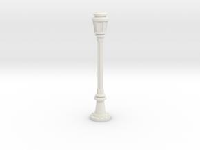 City Lamp Post 1/43 in White Natural Versatile Plastic