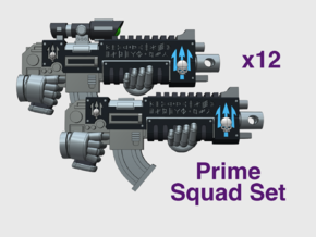 12x Neptune Spears: Mixed Primefire Squad Set in Smooth Fine Detail Plastic