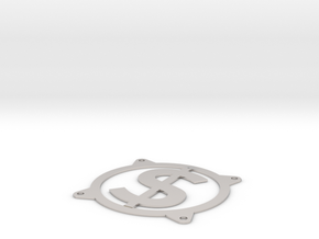 Fan guard 80mm - Dollar sign in Platinum