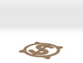 Fan guard 80mm - Dollar sign in Natural Brass
