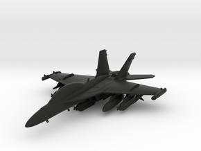 Boeing EA-18G Growler in Black Natural Versatile Plastic: 1:120 - TT