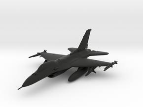 General Dynamics F-16 Fighting Falcon in Black Natural Versatile Plastic