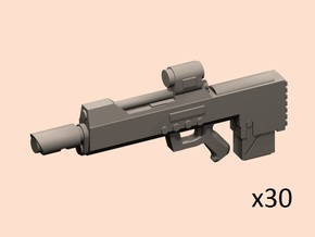 28mm bullpup laser rifle in Smoothest Fine Detail Plastic