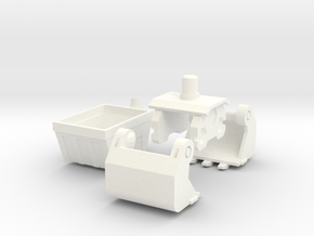Earthrise: Grapple add-on in White Processed Versatile Plastic