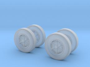 Oerlikon Twin Gun 35mm Modul 1 Wheels in Smooth Fine Detail Plastic: 1:35