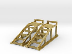 RC Garage 4WD Truck Car Ramps 1:10 Scale in Natural Brass