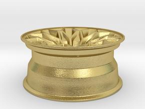 1:10 Display D52 Snowflake Rim in Natural Brass