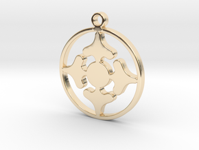 Queen of Spades - Pendant in 14k Gold Plated Brass