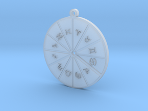 Cancer - Zodiac Pendant in Smoothest Fine Detail Plastic