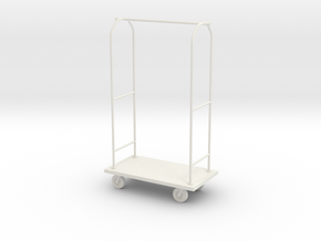 1:24 Luggage Cart in White Natural Versatile Plastic