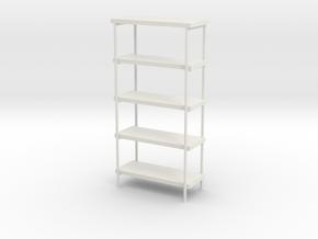 1:24 Industrial Shelf in White Natural Versatile Plastic