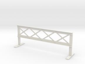 1:24 Street Barrier in White Natural Versatile Plastic