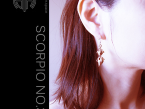Scorpion_No.3S / Earrings in Polished Brass (Interlocking Parts)
