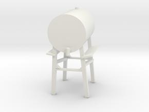 1/64 standing fuel tank in White Natural Versatile Plastic