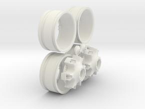 Trilex Zwillingsfelge in White Natural Versatile Plastic