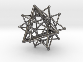 Compound of six tetrahedra in Polished Nickel Steel