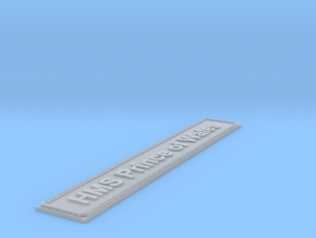 Nameplate: HMS Prince of Wales (10 cm) in Smoothest Fine Detail Plastic