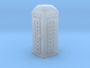 N Scale Telephone Booth in Smooth Fine Detail Plastic