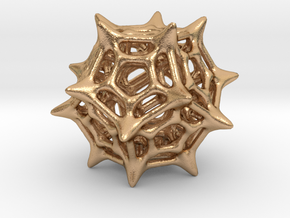 Dodecahedron Pendant Type C in Natural Bronze: Small