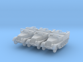 Sdkfz 11 (open) (window up) (x3) 1/200 in Smooth Fine Detail Plastic