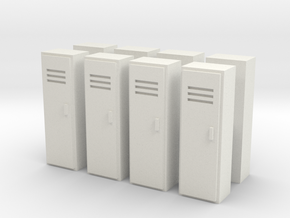 Locker (x8) 1/120 in White Natural Versatile Plastic