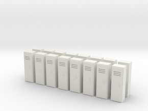 Locker (x16) 1/144 in White Natural Versatile Plastic
