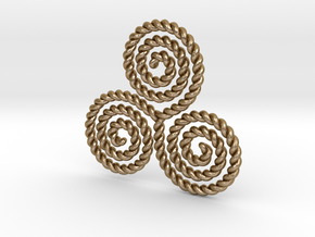 Unitary Triskelion RH in Polished Gold Steel