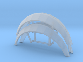 1/24 1/25 universal fender flares in Smooth Fine Detail Plastic