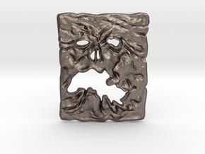 NECRONOMICON Evil Dead 2 Pendant ⛧ VIL ⛧ in Polished Bronzed-Silver Steel: Large