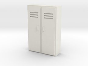 Double Locker 1/12 in White Natural Versatile Plastic