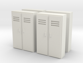 Double Locker (x4) 1/120 in White Natural Versatile Plastic