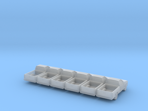 Pickup -set of 6 - 1:200scale in Smooth Fine Detail Plastic