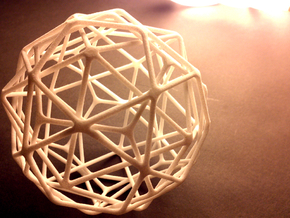 Medium Nested Polyhedra in White Natural Versatile Plastic