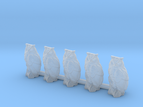 HO Scale Owls in Smooth Fine Detail Plastic
