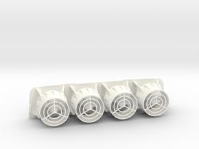 CAPTAIN ACTION SILVER STREAK Quad Thruster in White Processed Versatile Plastic
