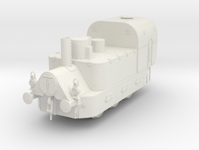 1/35th scale Armoured Steam Locomotive in White Natural Versatile Plastic