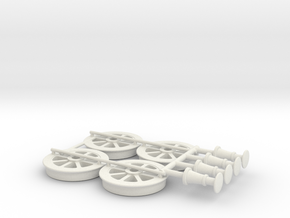 G2 wagon wheels and buffers in White Natural Versatile Plastic