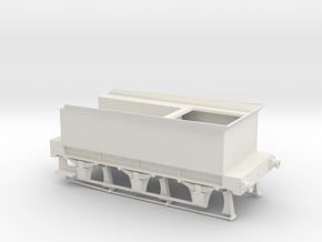 Stevenson Tender for 4-2-0 Long Boiler Engine in White Natural Versatile Plastic