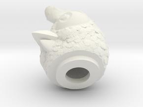 Chicken-head-dyna in White Natural Versatile Plastic