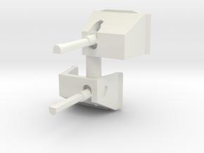 50cal MG Box Shield (x2) 1/56 in White Natural Versatile Plastic