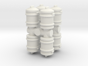 Garbage Can (x8) 1/100 in White Natural Versatile Plastic
