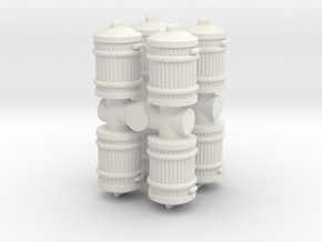 Garbage Can (x8) 1/76 in White Natural Versatile Plastic