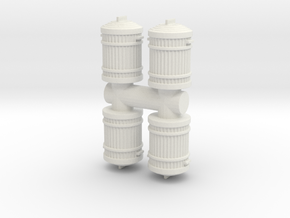 Garbage Can (x4) 1/48 in White Natural Versatile Plastic