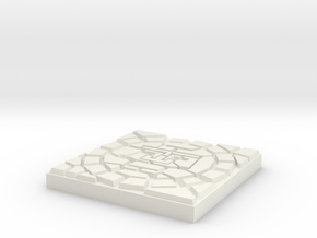 Dungeonbrix Mayan Sun God Tile in White Natural Versatile Plastic