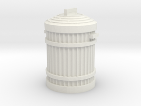 Garbage Can 1/12 in White Natural Versatile Plastic