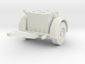 German Ammo Limber 1/56 in White Natural Versatile Plastic