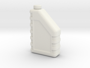 Motor Oil Bottle 1/12 in White Natural Versatile Plastic