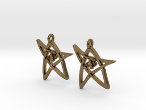 Derleth Elder Sign Earring (Pair) in Natural Bronze