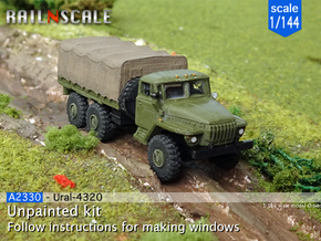 Ural-4320 (1/144) in Smooth Fine Detail Plastic
